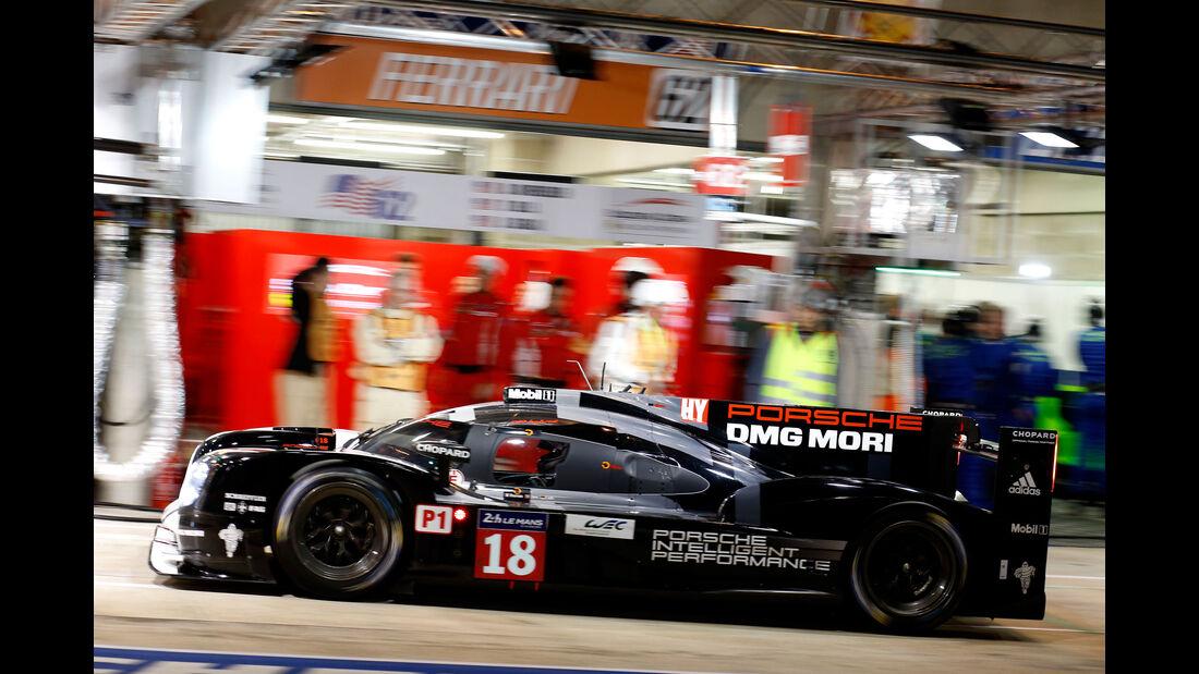 Porsche 919 Hybrid - Startnummer #18 - 24h Rennen Le Mans - 1. Qualifying - Mittwoch 10.6.2015