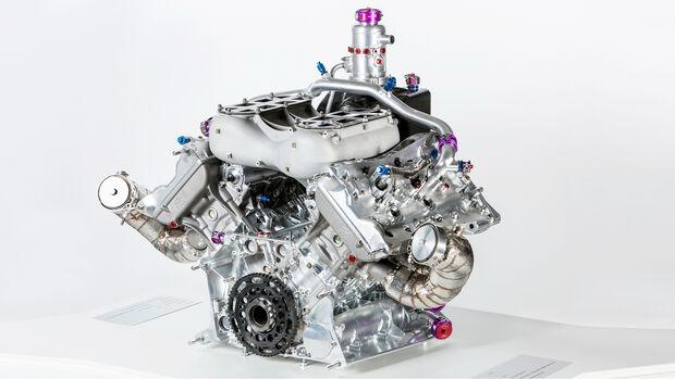 Porsche 919 V4 Turbo Hybrid-Motor