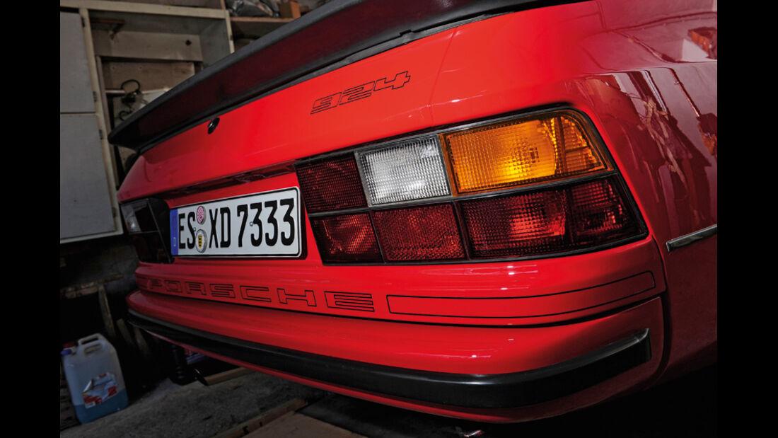 Porsche 924, Heck, Rücklichter