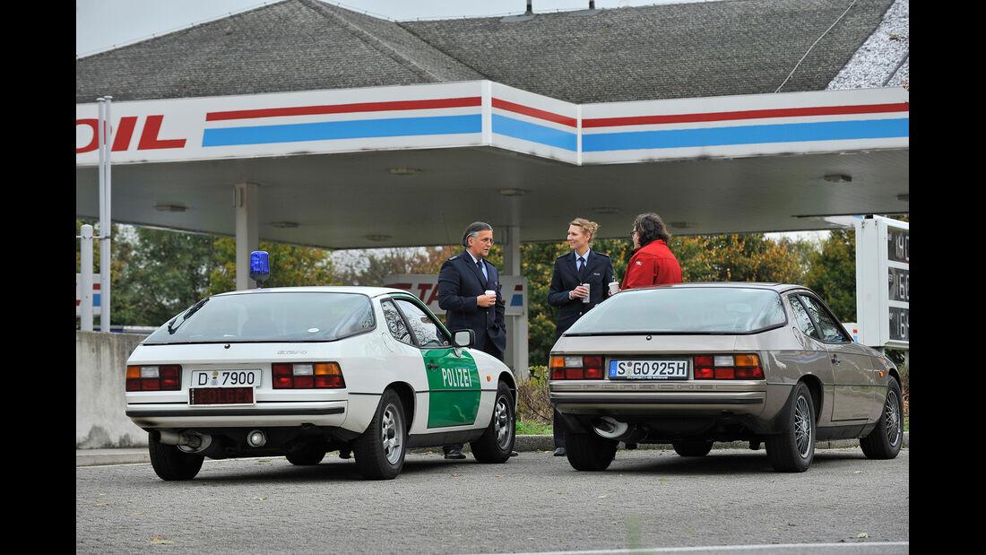 Porsche 924, Polizeiwagen, Heckansicht