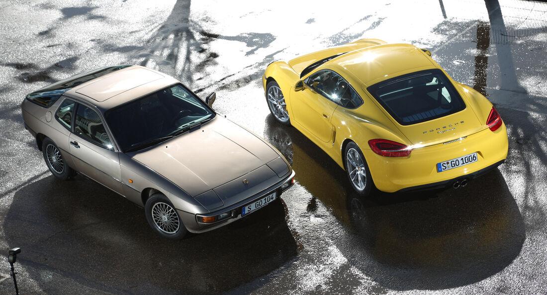 Porsche 924, Porsche Cayman S, Draufsicht