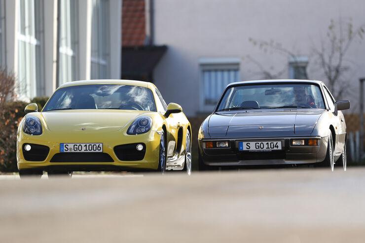 Porsche 924, Porsche Cayman S, Frontansicht
