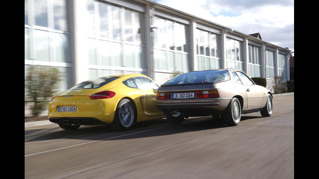 Porsche 924, Porsche Cayman S, Heckansicht
