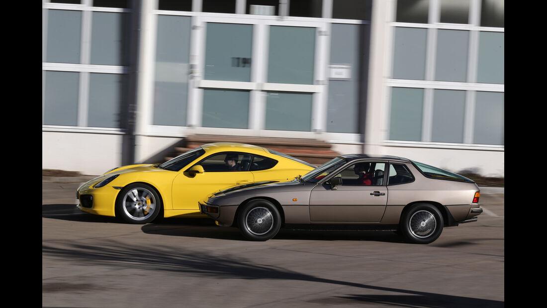 Porsche 924, Porsche Cayman S, Seitenansicht