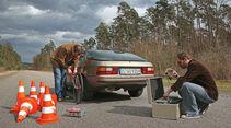 Porsche 924, Testaufbau, Heckansicht