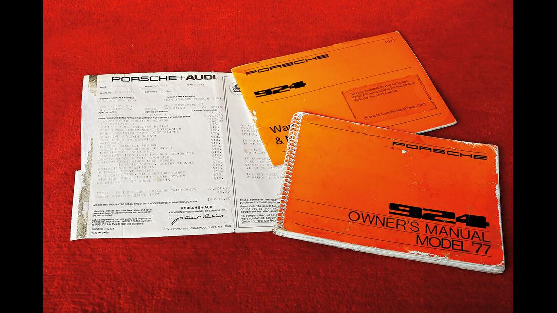 Porsche 924 Weltmeister, Martini, Fahrzeugpapiere