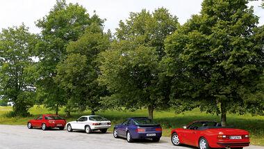 Porsche 928, 924, 968, 944 S2, Seitenansicht