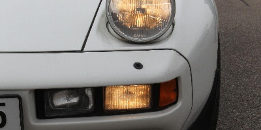 Porsche 928 S, 1983, Frontlichter, Detail