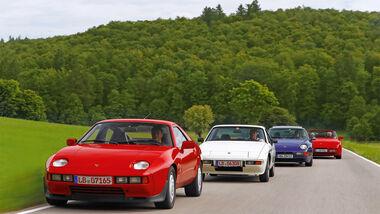 Porsche 928 S-Spoiler, 924 Martini, 968 Coupé, 944 S2 Cabrio