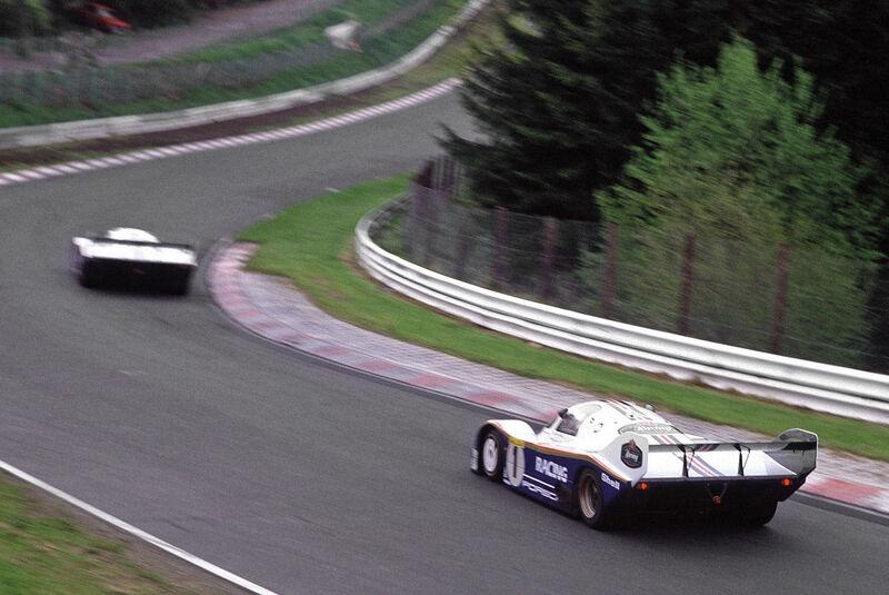 Porsche 956/962, Heckansicht