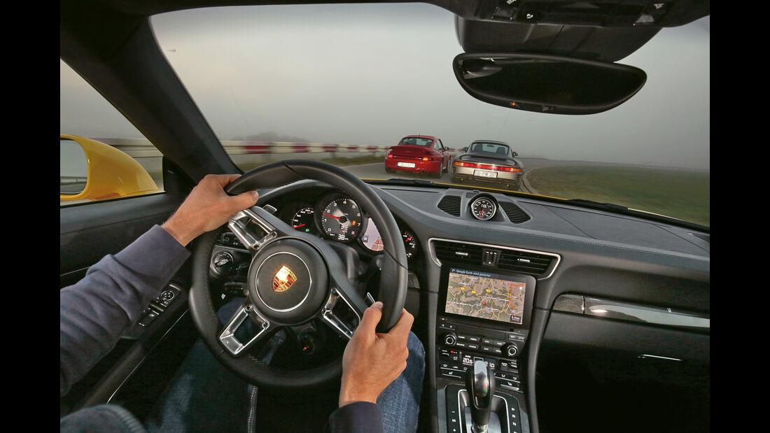 Porsche 959, 993 Turbo,  991 Carrera S, Ausfahrt
