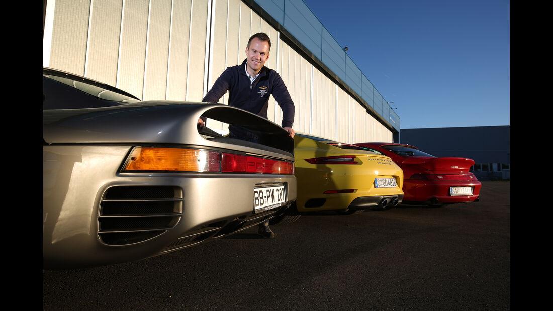 Porsche 959, 993 Turbo,  991 Carrera S, Heck, Christian Gebhardt
