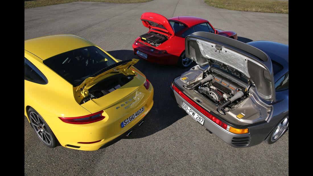 Porsche 959, 993 Turbo,  991 Carrera S, Motoren