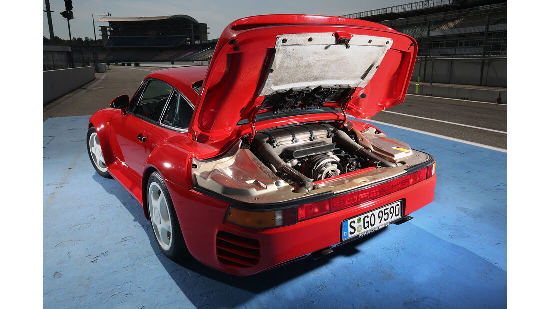 Porsche 959, Exterieur, Motor