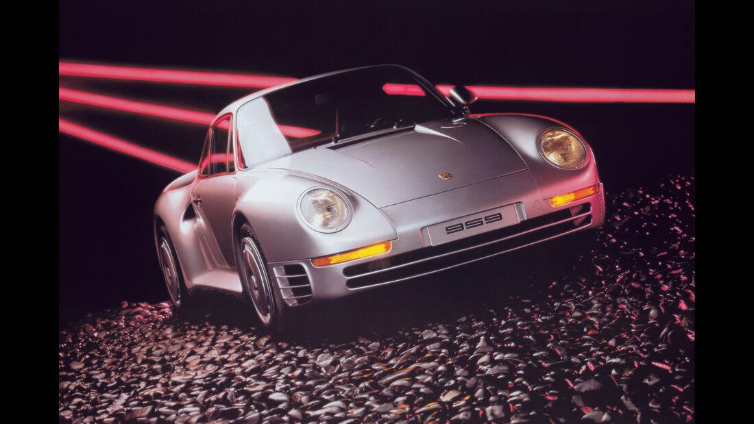 Porsche 959 historische Werbeanzeige