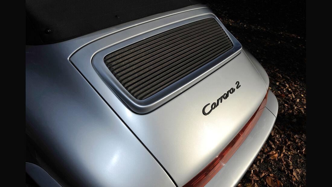 Porsche 964 Cabrio, Motorabdeckung