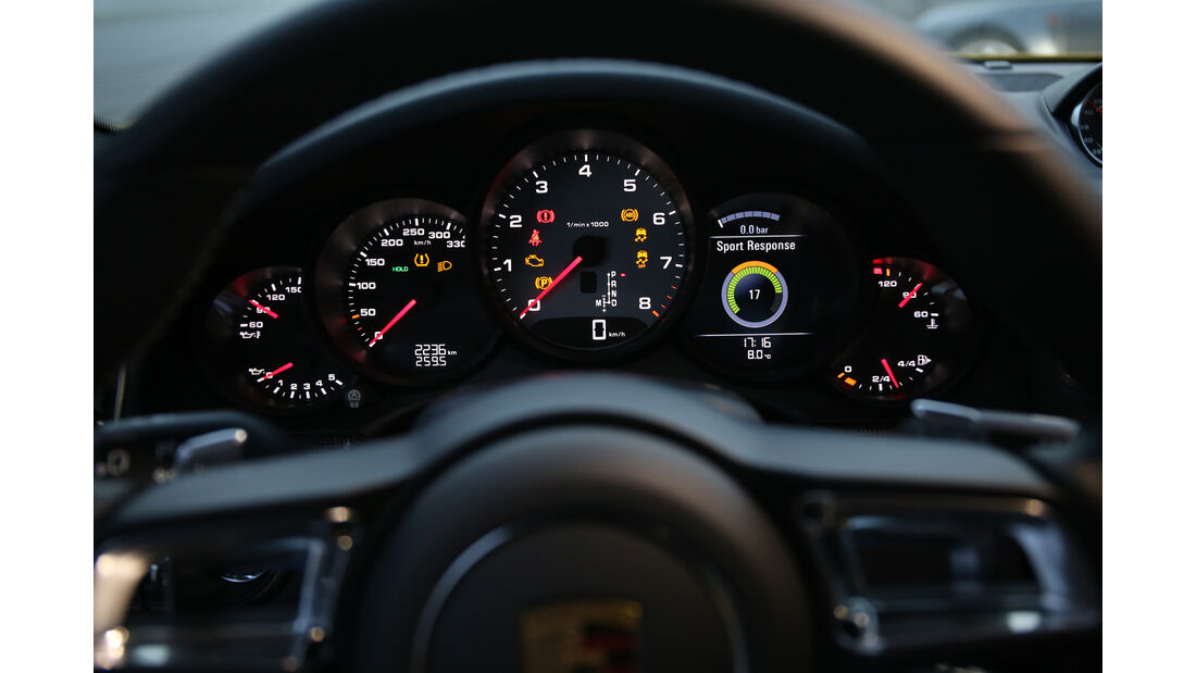 Porsche 991 Carrera S, Rundinstrumente