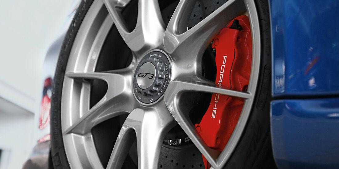 Porsche 997 GT3, Rad, Felge, Bremse