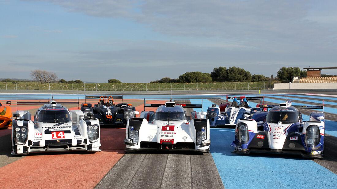 Porsche, Audi & Toyota - LMP1 - WEC Test Paul Ricard - Le Castellet - 2014