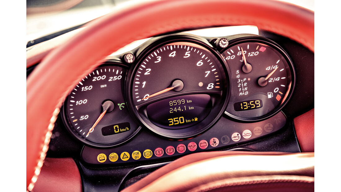 Porsche Boxster 2.7, Rundinstrumente