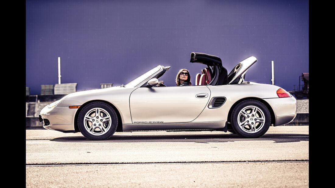 Porsche Boxster 2.7, Verdeck öffnet