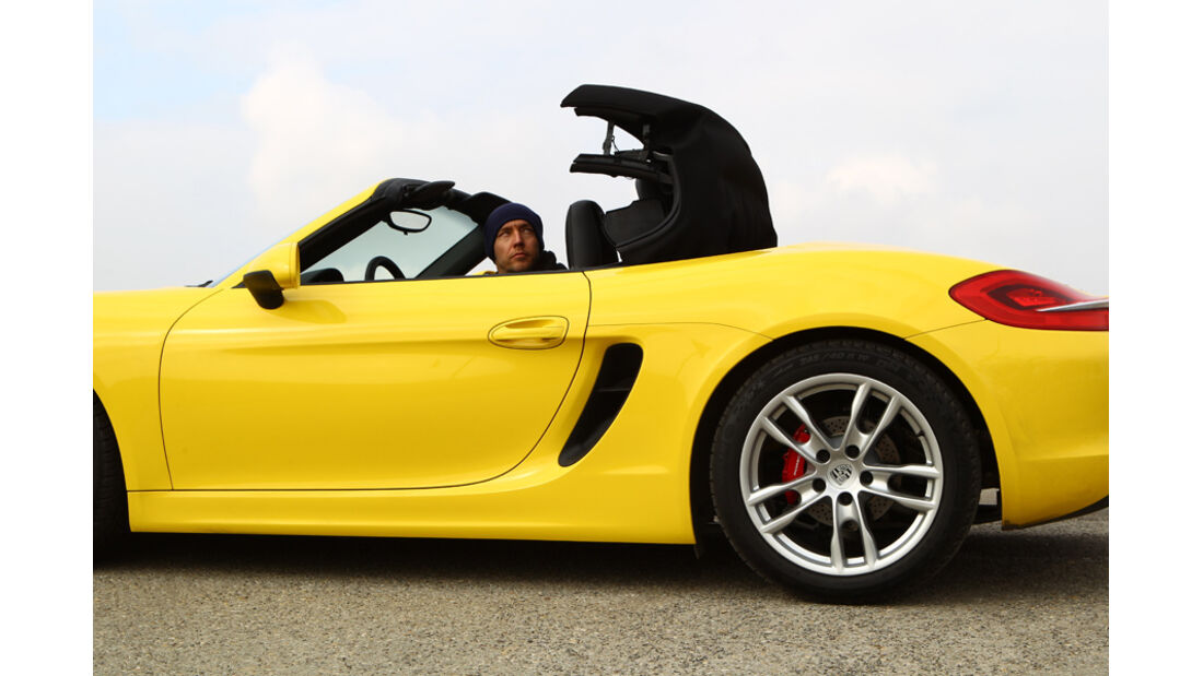 Porsche Boxster, Cabrio, Dach öffnet