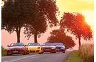 Porsche Boxster, Jaguar F-Type, Audi TT RS, BMW Z4, Frontansicht