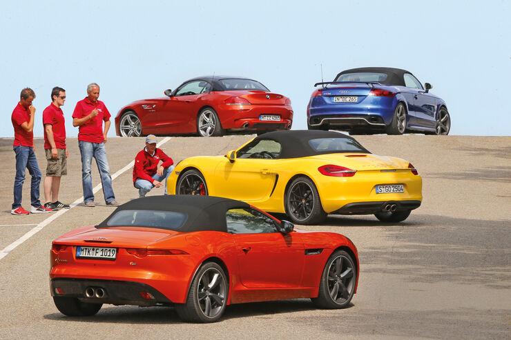 Porsche Boxster Jaguar F Type Audi Tt Rs Bmw Z4 Jaguar