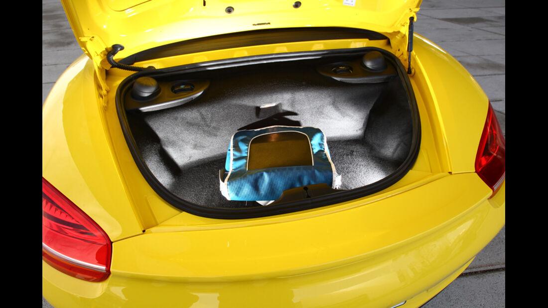 Porsche Boxster, Kofferraum, Gepäckablage