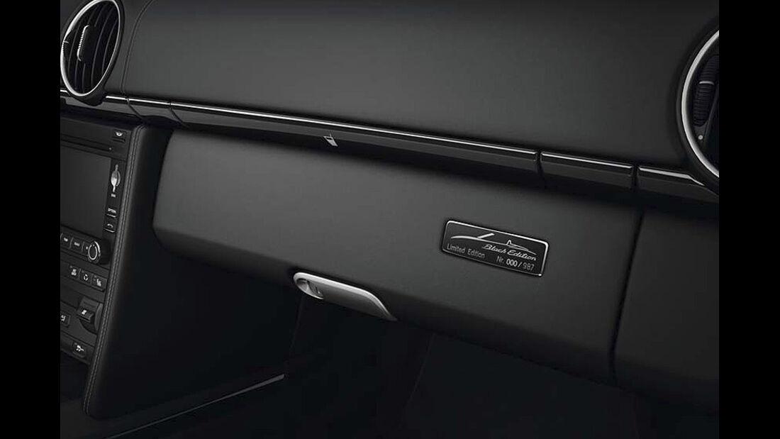 Porsche Boxster S Black Edition Sondermodell, Handschugfach, Plakette