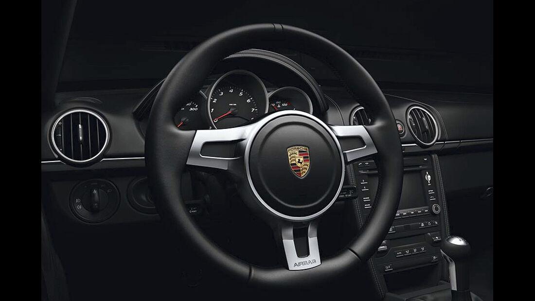 Porsche Boxster S Black Edition Sondermodell, Lenkrad