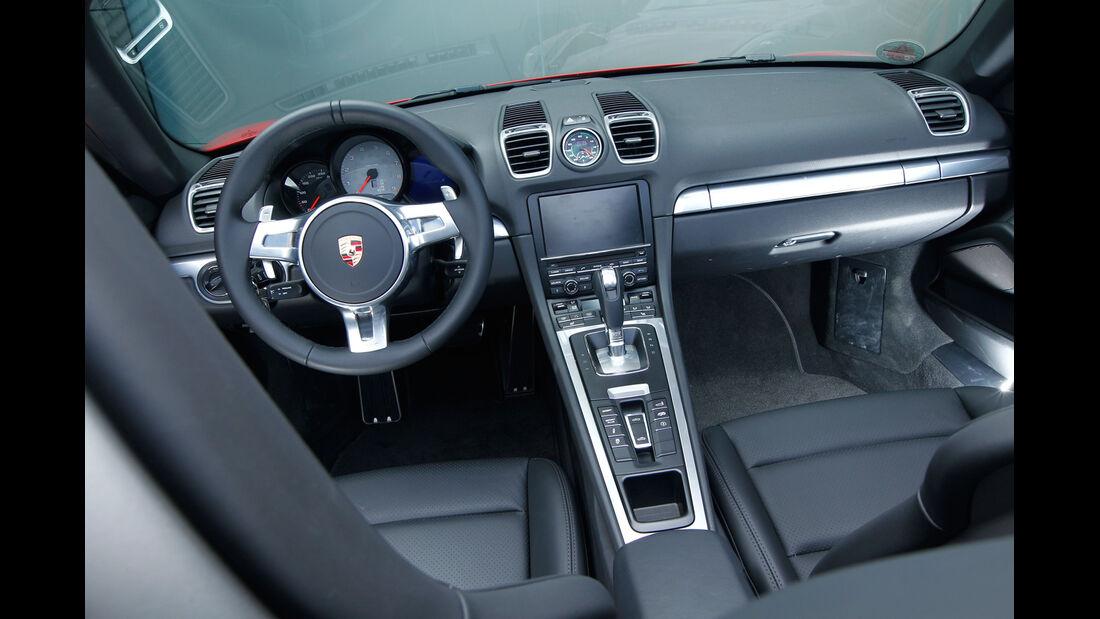 Porsche Boxster S, Cockpit, Lenkrad