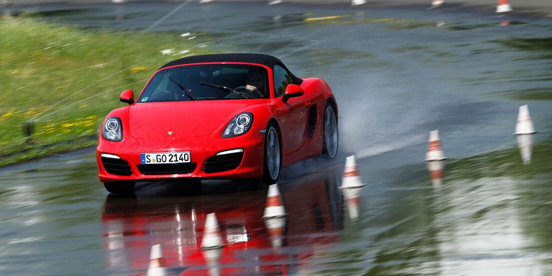 Porsche Boxster S, Front, Nasshandling