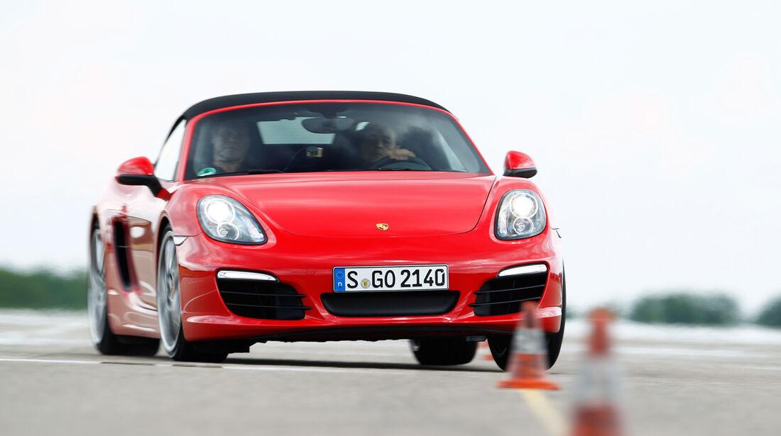 Porsche Boxster S, Frontansicht, Slalom