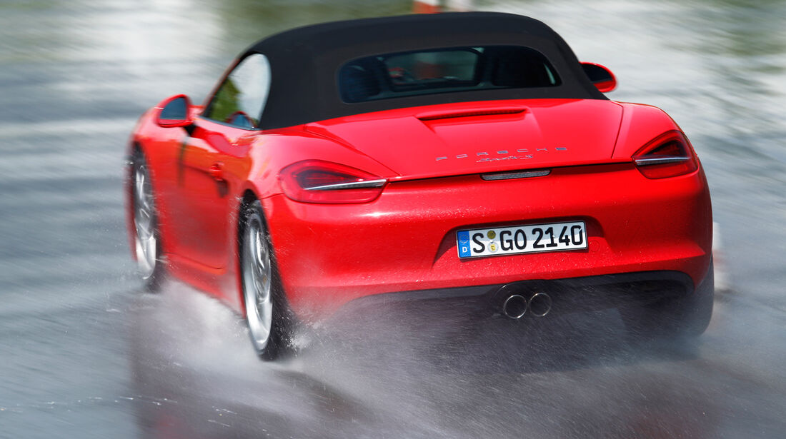 Porsche Boxster S, Heck, Nasshandling