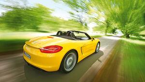 Porsche Boxster S, Heck, Seitenlinie