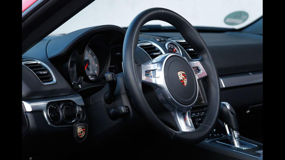 Porsche Boxster S, Lenkrad, Cockpit