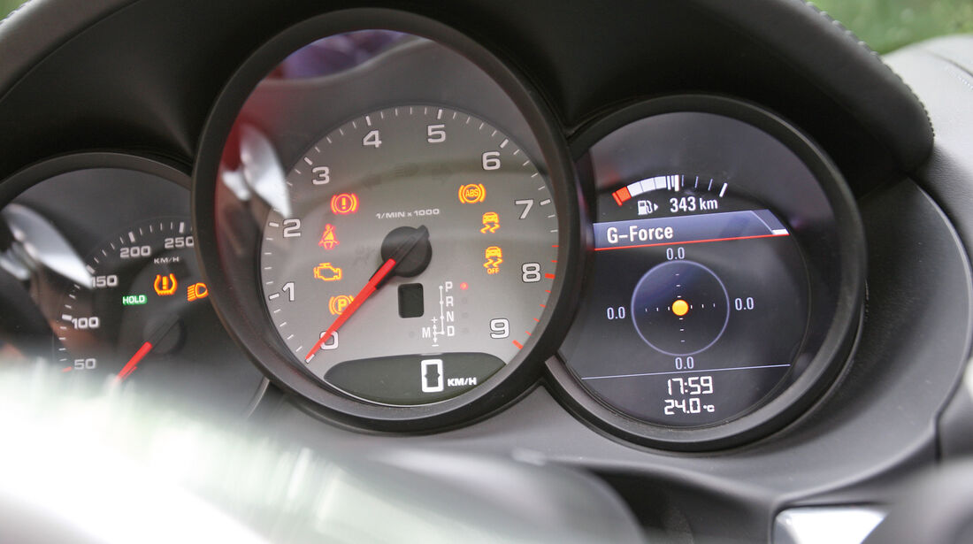 Porsche Boxster S, Rundinstrument, Tacho