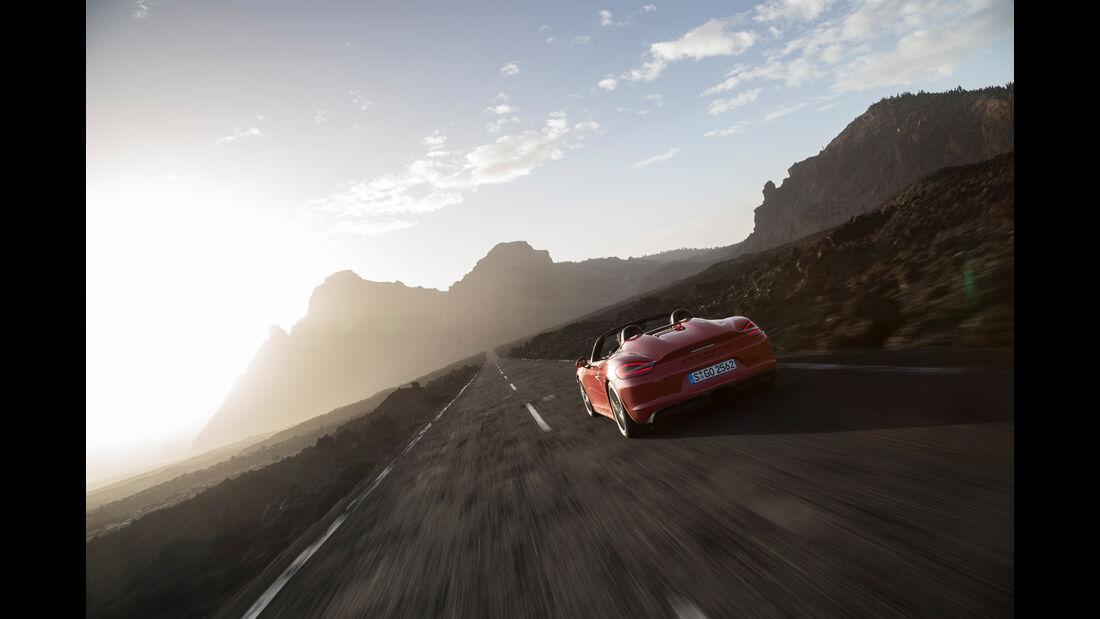 Porsche Boxster Spyder, Heckansicht
