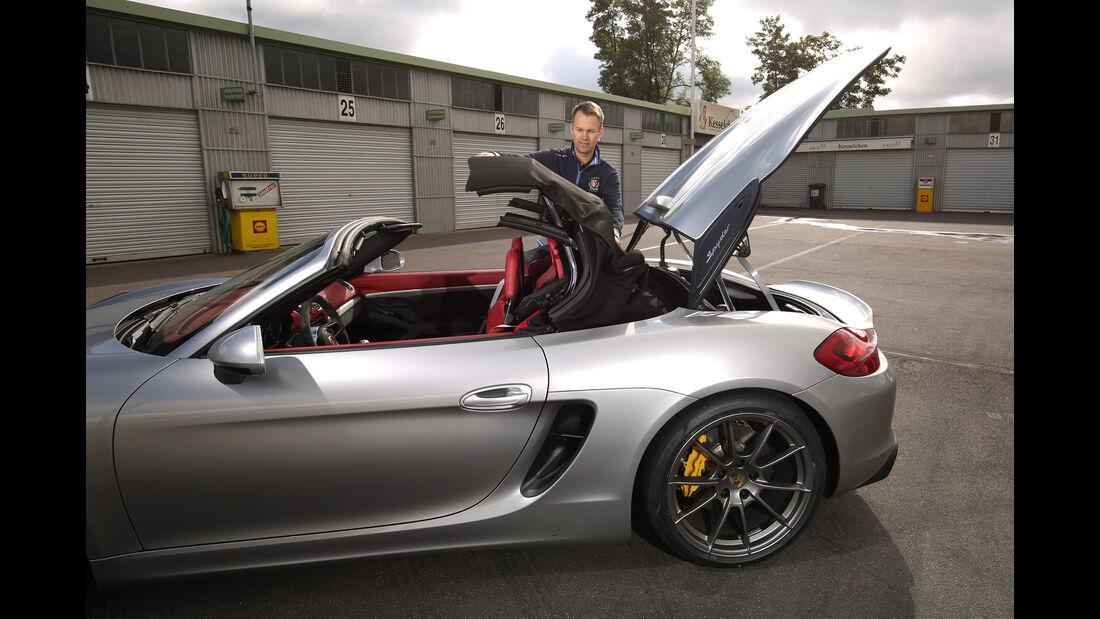 Porsche Boxster Spyder, Heckklappe, Cabriodach