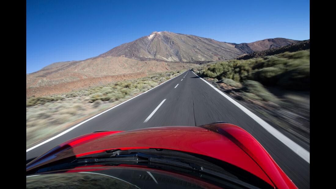 Porsche Boxster Spyder, Impression, Fahrersicht