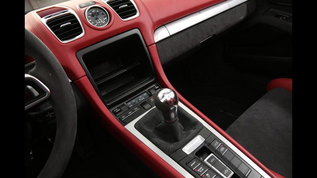Porsche Boxster Spyder, Mittelkonsole
