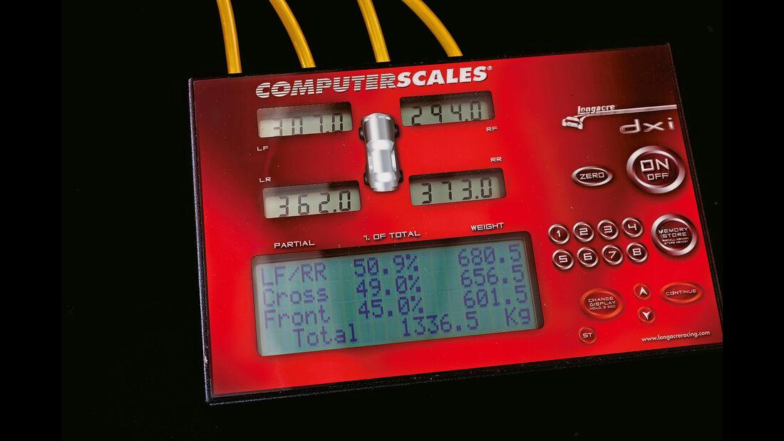 Porsche Boxster Spyder, Prüfgerät, Anzeige