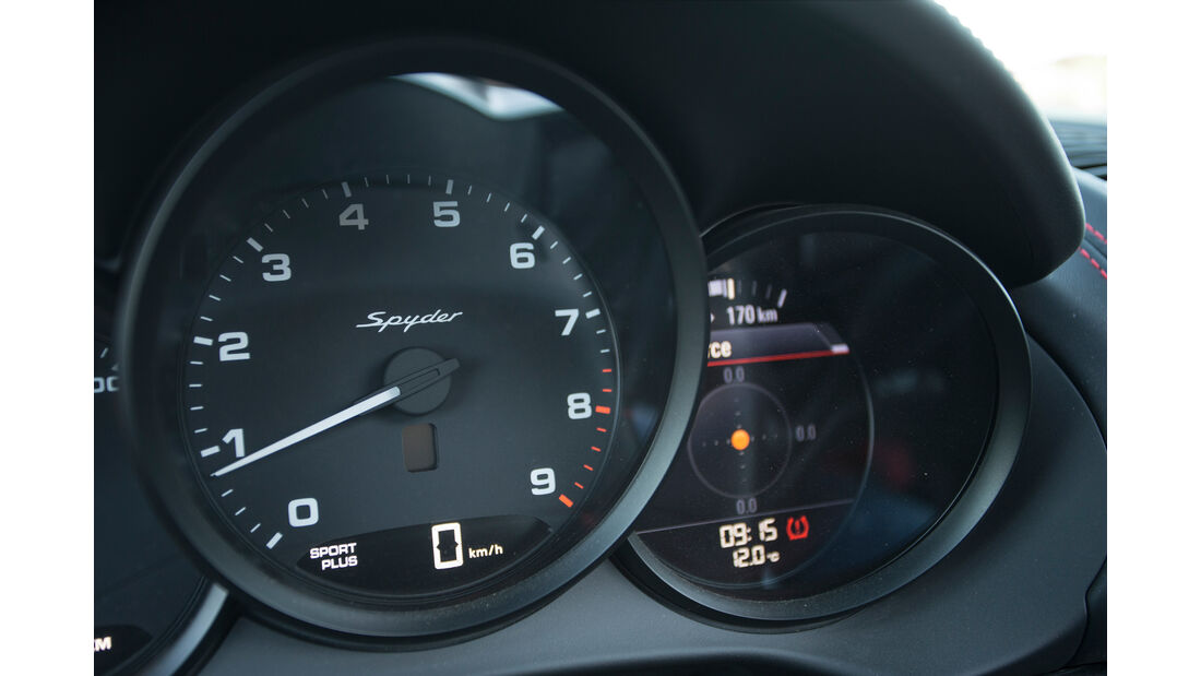 Porsche Boxster Spyder, Rundinstrumente