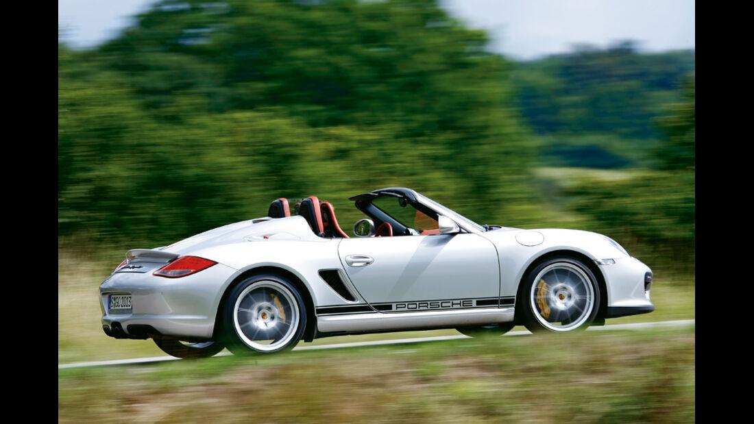 Porsche Boxster Spyder, Seitenansicht