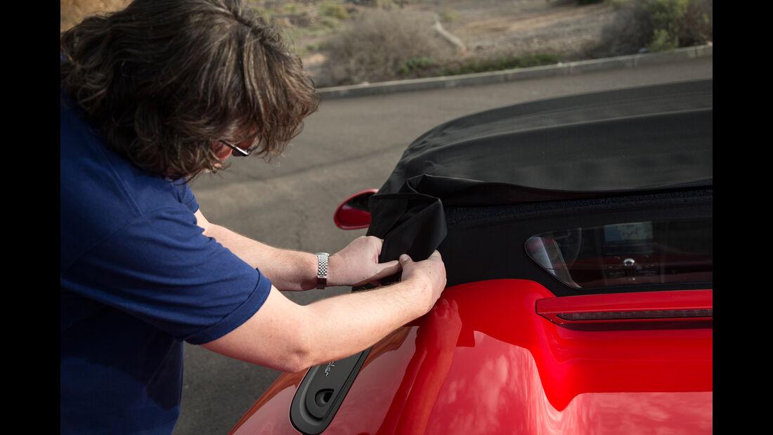 Porsche Boxster Spyder, Verdeck, Handarbeit