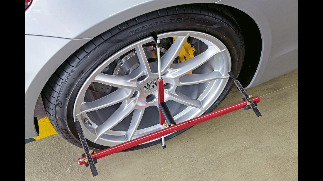 Porsche Boxster Spyder, Vorderradvermessung