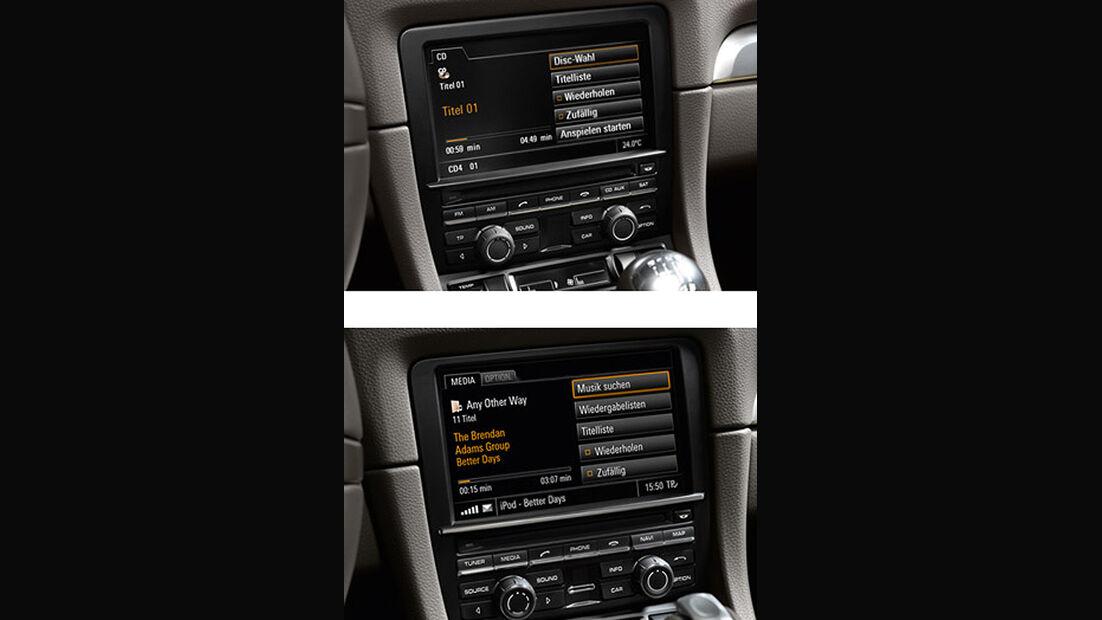 Porsche Boxster im Konfigurator, Entertainment-System PCM