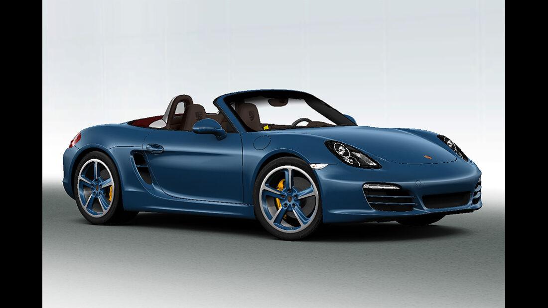 Porsche Boxster im Konfigurator, Felgenstern lackiert