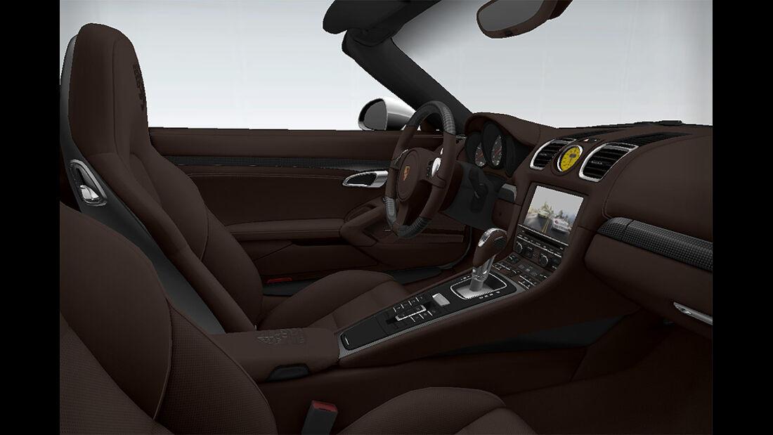 Porsche Boxster im Konfigurator, Innenraum